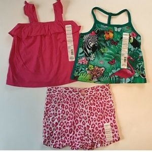 Toughskins Girls Sleeveless Tops & Shorts sz 24 M